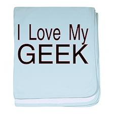 Love My Geek baby blanket