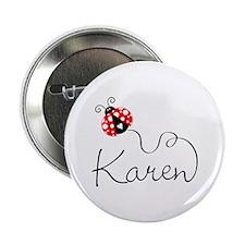 "Ladybug Karen 2.25"" Button"