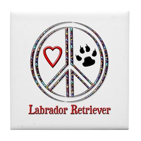 Peace Love Lab Tile Coaster