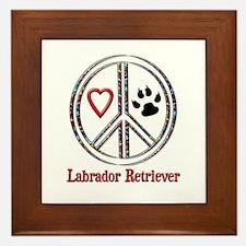 Peace Love Lab Framed Tile