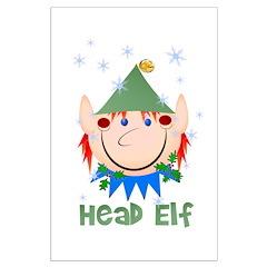 Head Elf Posters