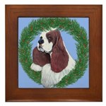 Christmas Cocker Spaniel Framed Tile