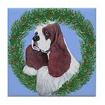Christmas Cocker Spaniel Tile Coaster