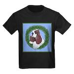 Christmas Cocker Spaniel Kids Dark T-Shirt