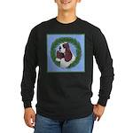 Christmas Cocker Spaniel Long Sleeve Dark T-Shirt