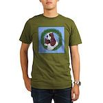 Christmas Cocker Spaniel Organic Men's T-Shirt (da