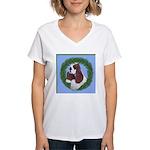 Christmas Cocker Spaniel Women's V-Neck T-Shirt