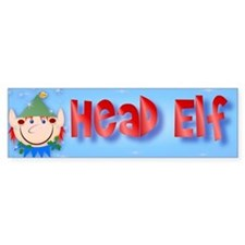 Head Elf Bumper Sticker