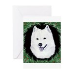 Christmas Samoyed Greeting Card