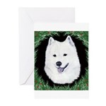 Christmas Samoyed Greeting Cards (Pk of 10)