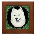 Christmas Samoyed Framed Tile