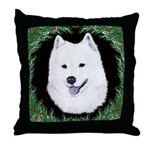 Christmas Samoyed Throw Pillow
