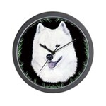 Christmas Samoyed Wall Clock