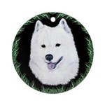 Christmas Samoyed Ornament (Round)