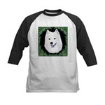 Christmas Samoyed Kids Baseball Jersey