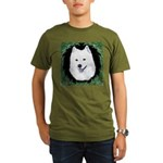 Christmas Samoyed Organic Men's T-Shirt (dark)