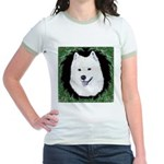 Christmas Samoyed Jr. Ringer T-Shirt