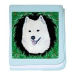 Christmas Samoyed baby blanket