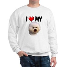 I Love My Bichon Frise Sweatshirt