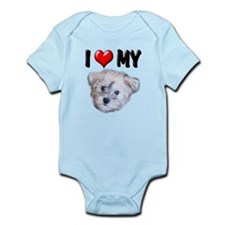 I Love My Schnoodle Infant Bodysuit