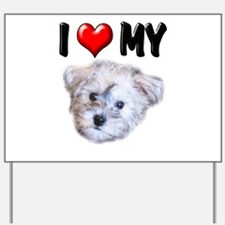 I Love My Schnoodle Yard Sign
