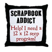 12 x 12 Step Program Throw Pillow