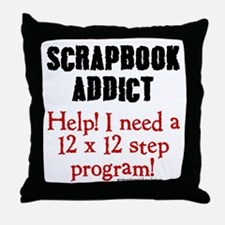 12 x 12 Step Program Throw Pillow