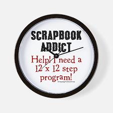 12 x 12 Step Program Wall Clock