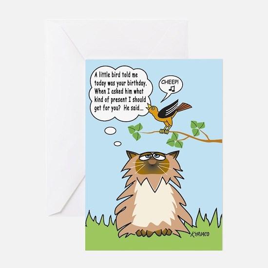 Cheep Birthday Card Greeting Card