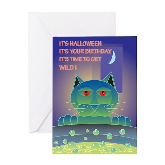 Halloween Birthday Ecards ~ Halloween birthday brew greeting card by qwacked