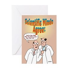 Scientific Minds Birthday Greeting Card