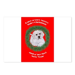 Great Pyrenees Christmas Pupp Postcards (Package o