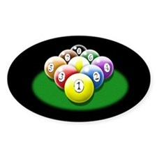 9-ball rack Decal