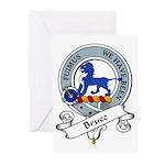 Bruce Clan Badge Greeting Cards (Pk of 10)