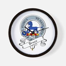 Bruce Clan Badge Wall Clock