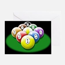 9-ball rack Greeting Card