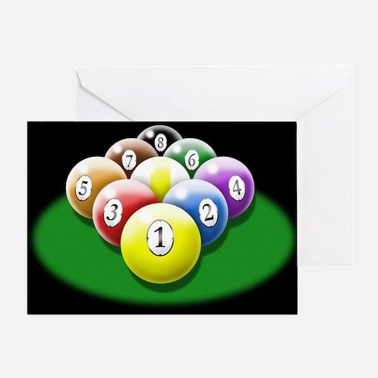 9-ball rack Greeting Card