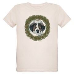 St. Bernard Christmas Design T-Shirt