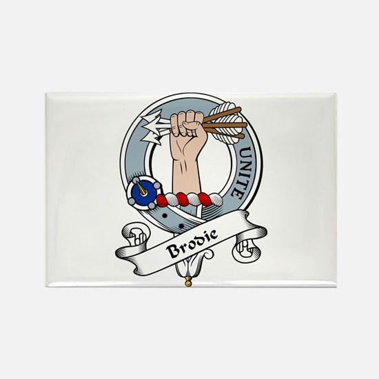 Brodie Clan Badge Rectangle Magnet (10 pack)