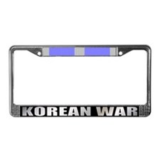 Korean War Veteran Ribbon License Plate Frame