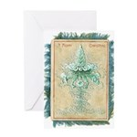 Old Green Tree Greeting Card