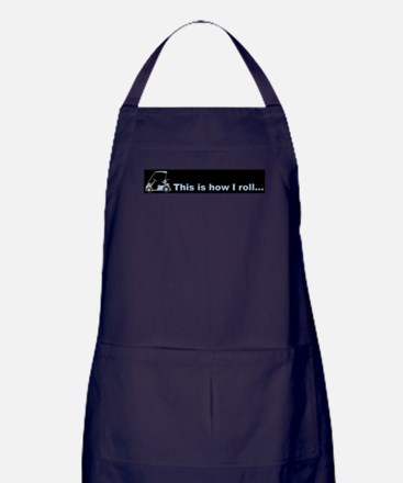This is how I roll golf gift Apron (dark)