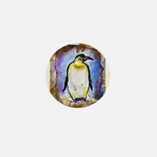 Penguin, colorful, Penguin, Mini Button