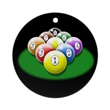 9-ball rack Ornament (Round)