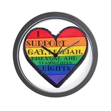I Support GLBT Rights Wall Clock