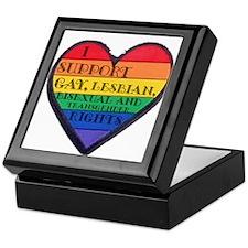 I Support GLBT Rights Keepsake Box
