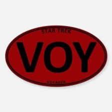 Star Trek: VOY Red Oval Sticker (Oval)