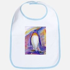 Colorful, purple, penguin, Bib