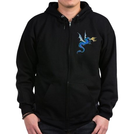 Blue Dragon Zip Hoodie (dark)