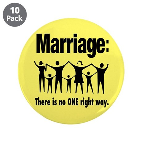 """Marriage - 3.5"""" Button (10 pack)"""